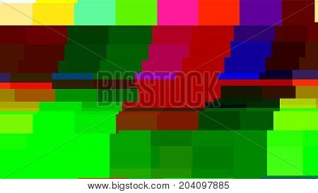 Test tv with glitch distortion. Analog or digital signal.