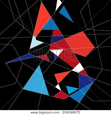 abstract graphics a background of different polygons
