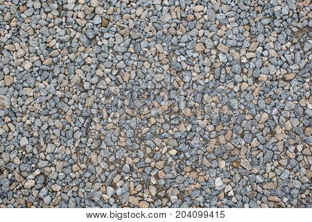 dark gray crushed gravel texture for background