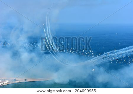 Chicago, Illinois - Usa - August 19, 2017: Chicago Air And Water Show