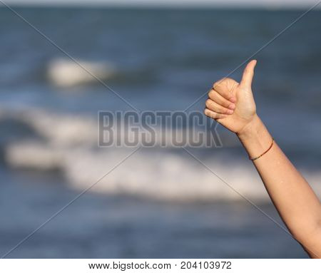 Thumb Up To Say Ok Ok And The