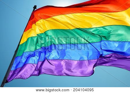 Rainbow Flag consists of six stripes with the colours red orange yellow green blue and violet