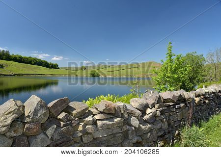 Dubbs reservoir in Troutbeck Valley, English Lake District