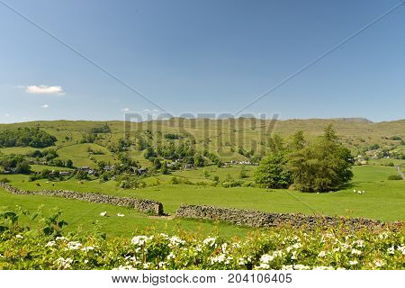 Village of Troutbeck in the English Lake District