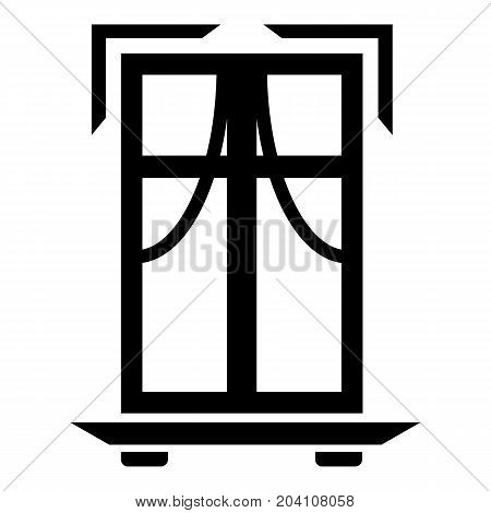 Sill window frame icon. Simple illustration of sill window frame vector icon for web