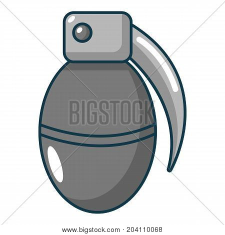 Paintball grenade icon. Cartoon illustration of paintball grenade vector icon for web