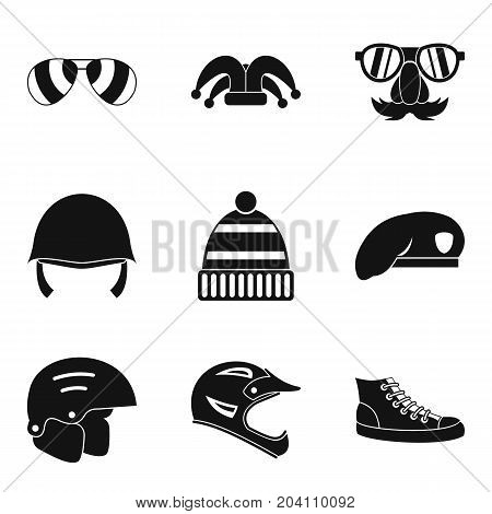 Protection hats icon set. Simple set of 9 protection hats vector icons for web design isolated on white background