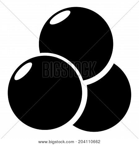Paintball sport balls icon. Simple illustration of paintball balls vector icon for web design