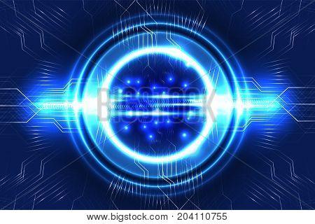 Digital technology background, data communication concept. Illustration vector