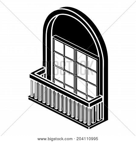 Fashion balcony icon. Simple illustration of fashion balcony vector icon for web design isolated on white background