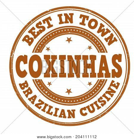 Coxinhas Sign Or Stamp