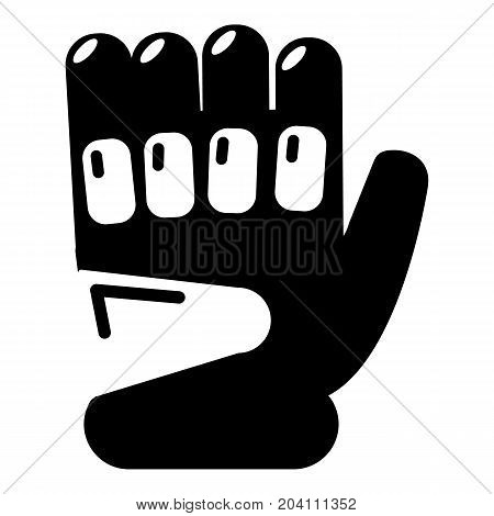 Paintball sport glove icon. Simple illustration of paintball glove vector icon for web