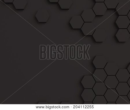 abstract texture honeycomb. Black hexagonal pattern texture background with place for text