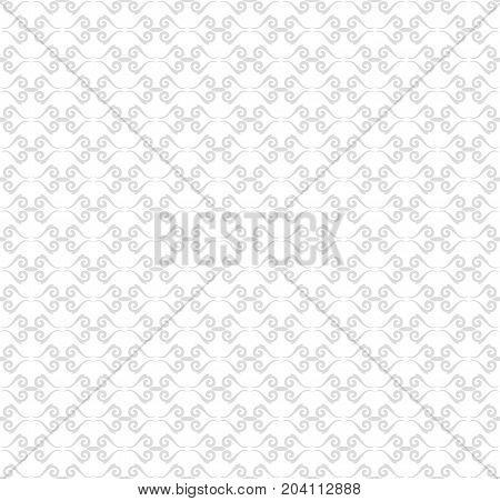 Seamless vector light silver ornament. Modern background. Geometric modern pattern
