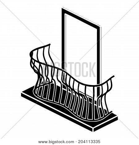Stylish balcony icon. Simple illustration of stylish balcony vector icon for web design isolated on white background