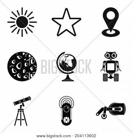 Exploring the planet icons set. Simple set of 9 exploring the planet vector icons for web isolated on white background