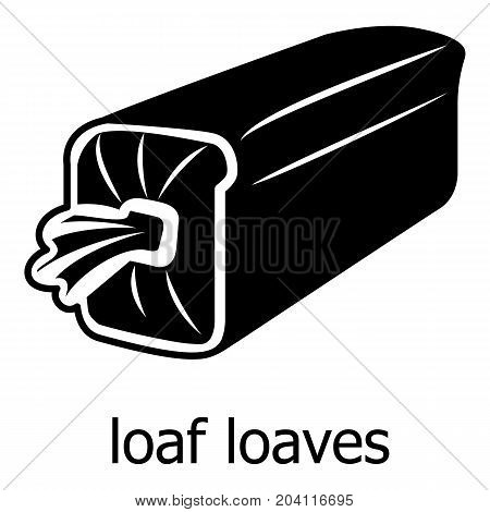 Loaf loaves icon. Simple illustration of loaf loaves vector icon for web