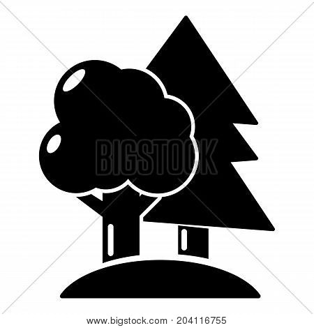 Paintball field icon. Simple illustration of paintball field vector icon for web design