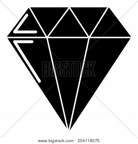 Diamond icon . Simple illustration of diamond vector icon for web design isolated on white background