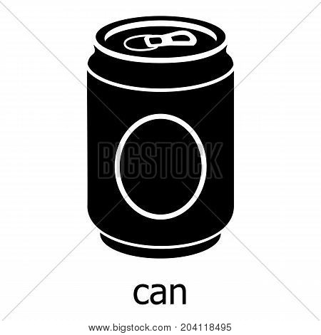 Can icon. Simple illustration of can vector icon for web