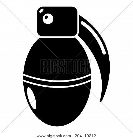 Paintball grenade ammunition icon. Simple illustration of paintball grenade ammunition vector icon for web design