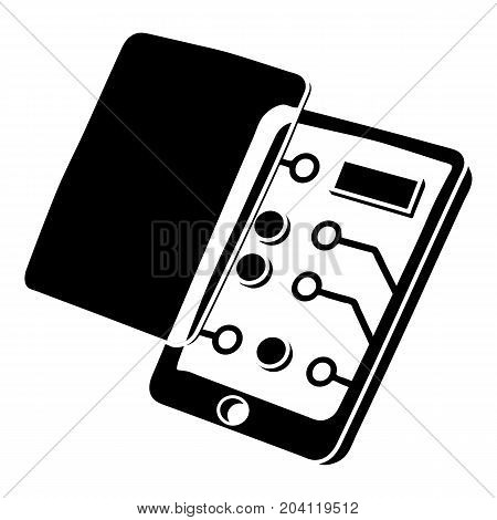 Replacement screen smartphone icon. Simple illustration of replacement screen smartphone vector icon for web