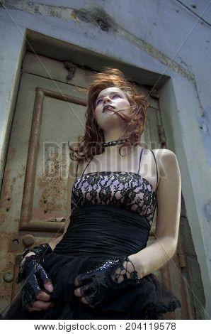 Emo Girl With Beautiful Hair