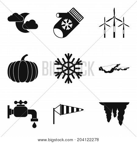 Coming winter icon set. Simple set of 9 coming winter vector icons for web design isolated on white background