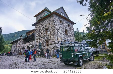 Zakopane, Poland - September 10, 2017: Shelter Murowaniec In Tat