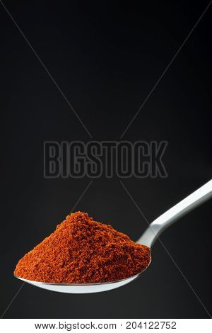 Spoon Of Powder Red Chili Pepper