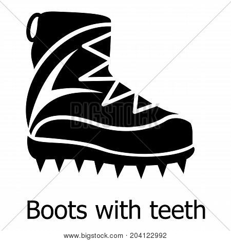 Mountaineer shoes icon. Simple illustration of mountaineer shoes vector icon for web