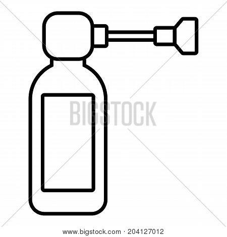 Inhaler icon. Outline illustration of inhaler vector icon for web design isolated on white background