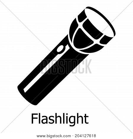 Flashlight icon. Simple illustration of flashlight vector icon for web