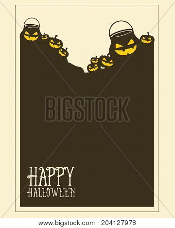 Halloween frame invitation style collection vector illustration