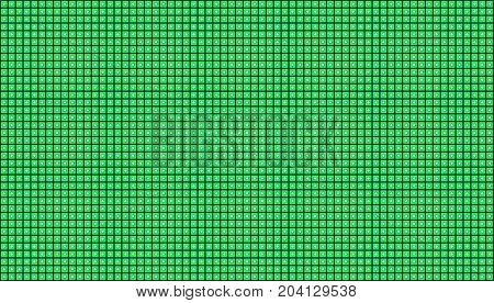 Green background - Illustration,  Green squares on black background