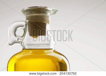 Glass Bottle Of Oil