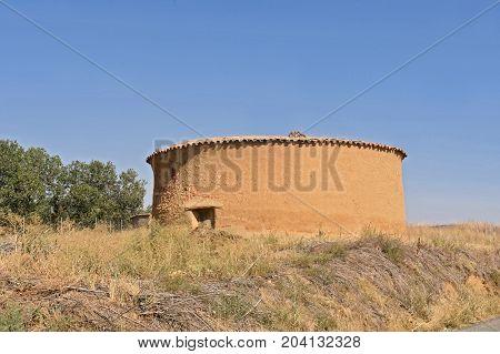 old dovecote in Valdunquillo Tierra de Campos Valladolid provinceCastilla y Leon Spain