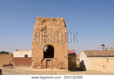 remains of San Pedro Church ValdunquilloValladolid province Castilla y Leon Spain