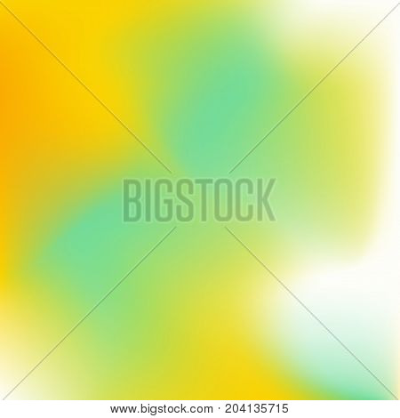 Blurred gradient with colorful yellow and green waves for mobile screen