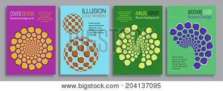 Covers illusion templates. Booklet, brochure, annual report, poster minimal design.