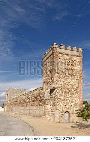 Walls Of Madrigal De Las Altas Torres, Avila Province, Spain