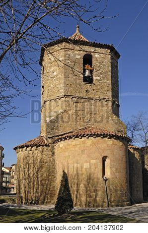 Church Of Sant Pol In Sant Joan De Les Abadesses, Ripolles, Girona Province, Catalonia, Spain