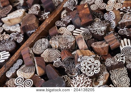 Artistic Wooden Stamps.goods Of Outdoor Market