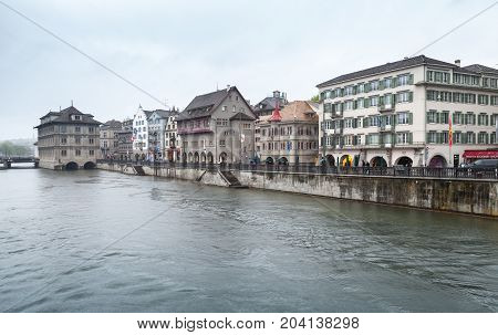 Cityscape Of Zurich - The Largest City In Switzerland