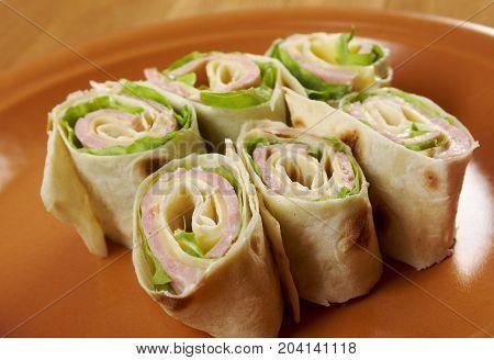 Healthy Club Sandwich Pita Bread Roll