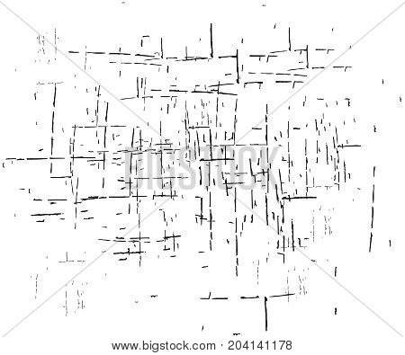 Grunge Sketch Effect Texture. A group of abstract grunge sketches