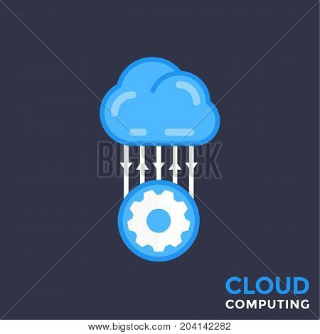 cloud technology vector illustration, eps 10 file, easy to edit
