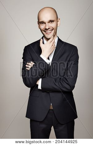 Cheerful Man In Suit