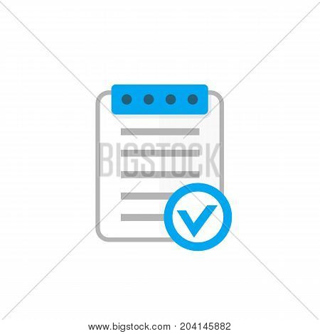 valid document icon, flat style, eps 10 file, easy to edit