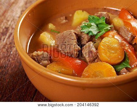Irish Stew With Tender Lamb Meat